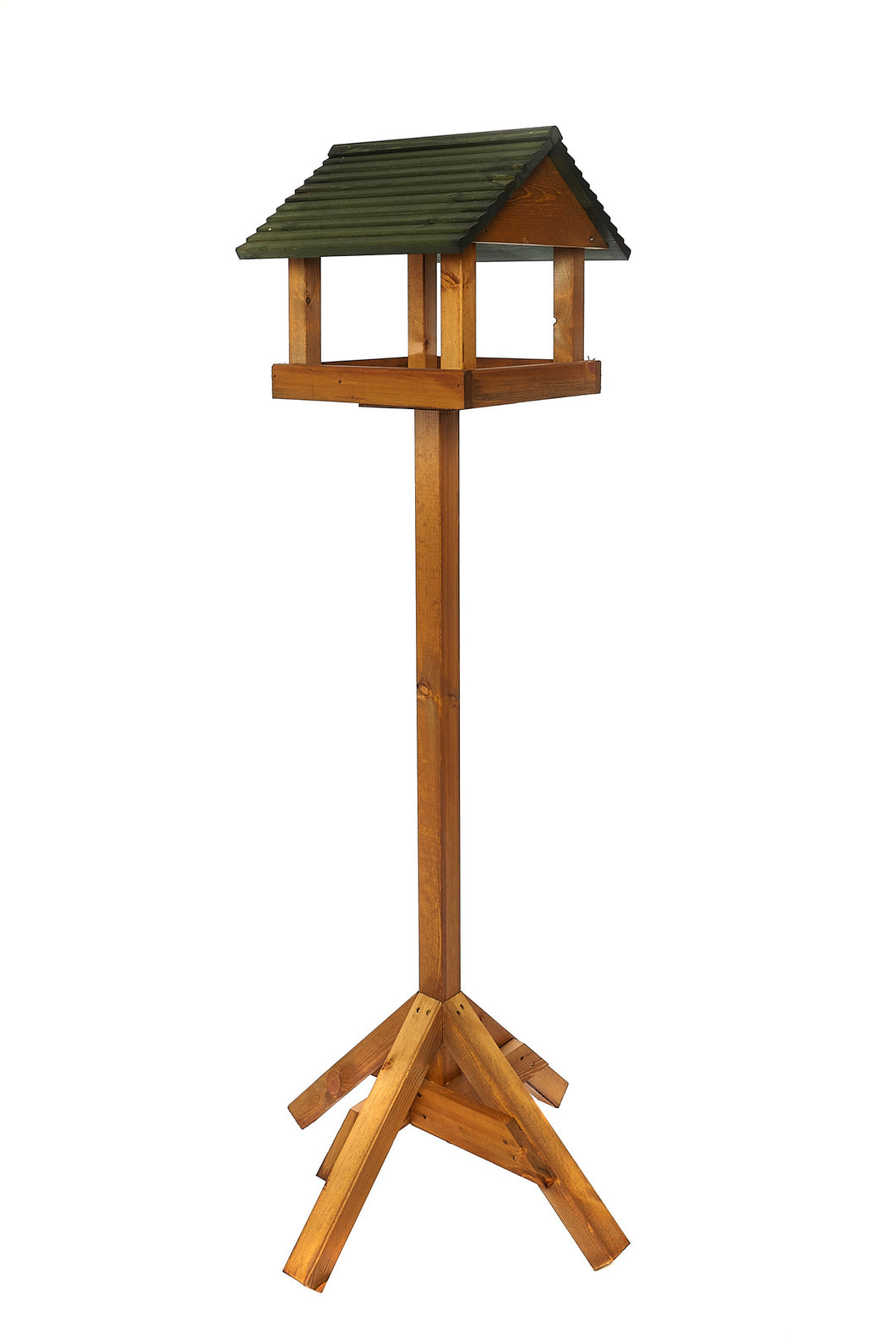 Bird Cuisine - Forest Green Wooden Roof Bird table
