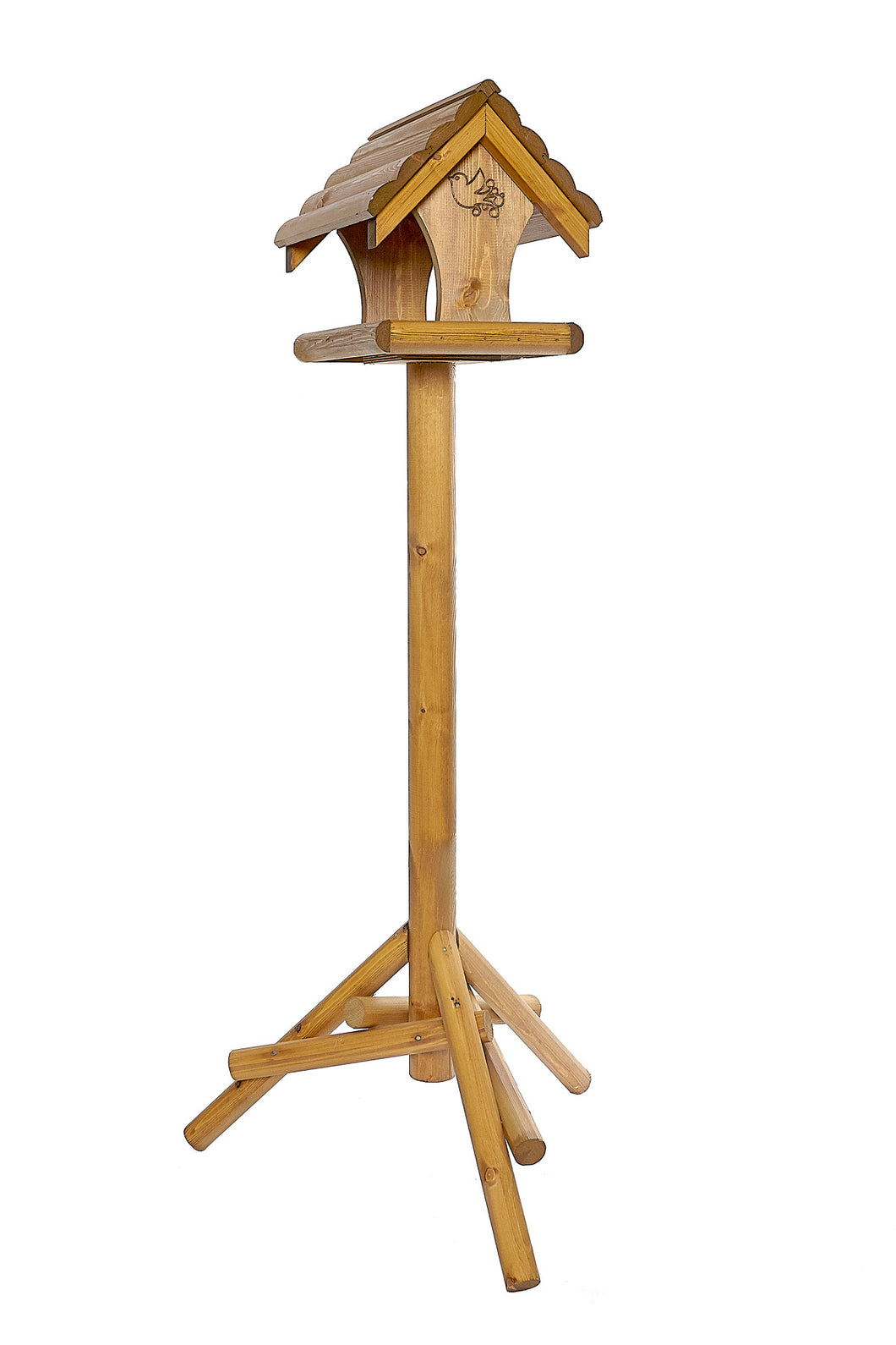 Warbler - Wooden Roof Bird Table