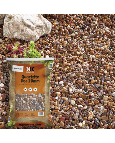 Quartz Pea Gravel 20mm - Handy Bag - 20Kg
