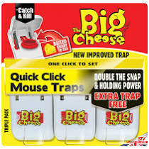 Big Cheese - Quick Click Mouse Trap - 3 Pack