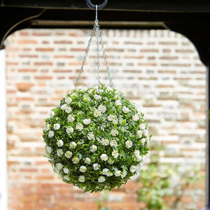 Topiary White Rose Ball