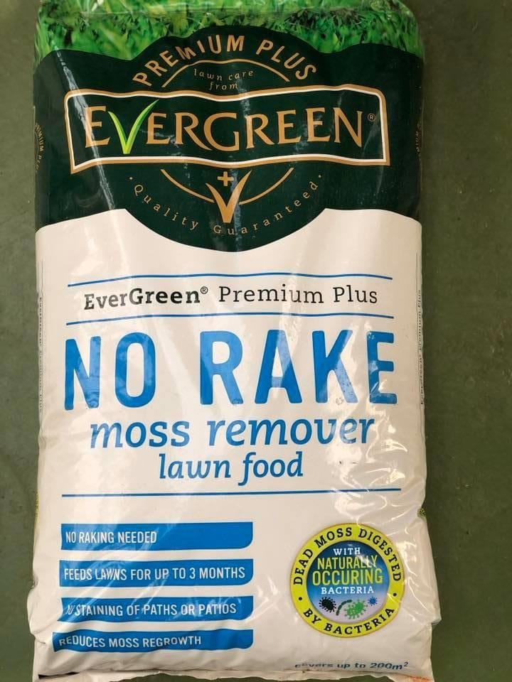 Evergreen No Rake Moss remover Lawn food