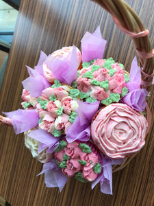 Luxury Cupcake Bouquet or Basket