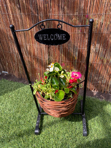Basket welcome planter