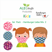 ProtectMe Kids *3er Pack* Hamburger Liebe Mix 2