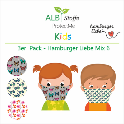 ProtectMe Kids *3er Pack* Hamburger Liebe Mix 6