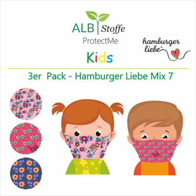 ProtectMe Kids *3er Pack* Hamburger Liebe Mix 7