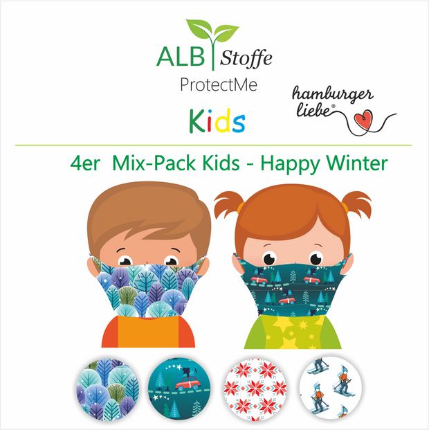 NEU! ProtectMe Kids *4er Pack* HAPPY WINTER