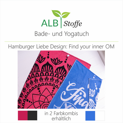 Innovatives Bade- und Yogatuch im - Find you Inner OM - Design