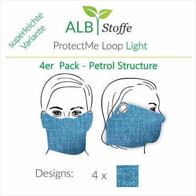 ProtectMe - Loop Light - 4er Pack PETROL STRUCTURE