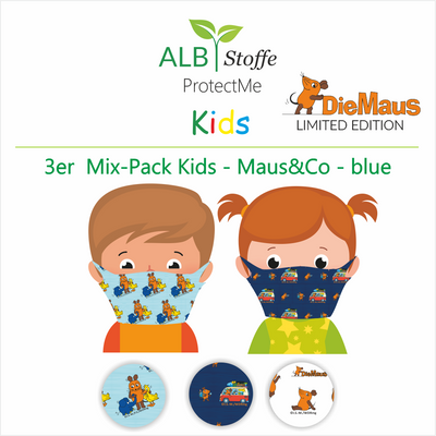 NEU! ProtectMe Kids *3er Mix Pack* DIE MAUS - Design - blue
