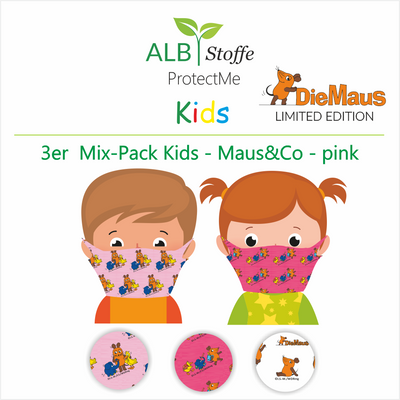 NEU! ProtectMe Kids *3er Mix Pack* DIE MAUS - Design - pink