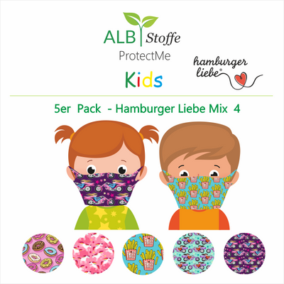 BRANDNEU ! ProtectMe Kids *5er Pack* Hamburger Liebe Mix 4