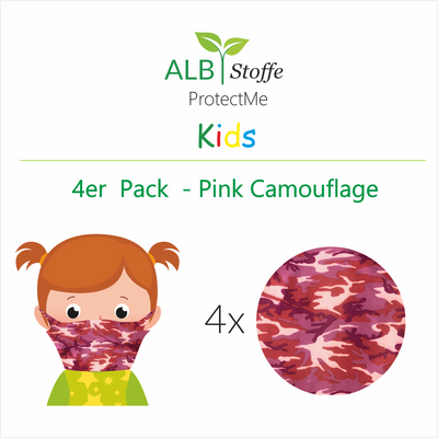 ProtectMe Kids *4er Pack* Pink Camouflage