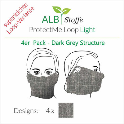 ProtectMe - Loop Light - 4er Pack DARK GREY