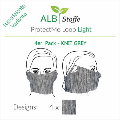 ProtectMe - Loop Light - 4er Pack KNIT GREY