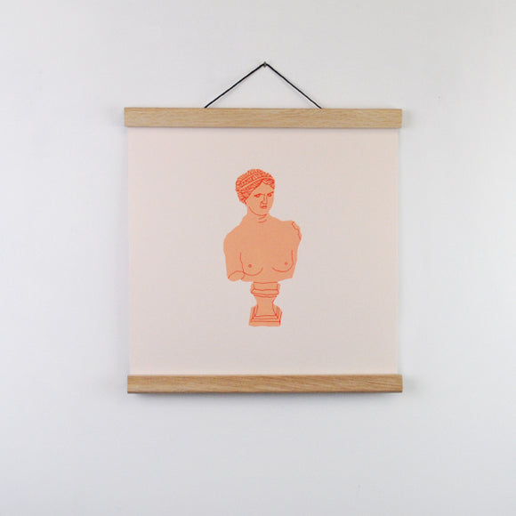 Peach Bust Screen Print