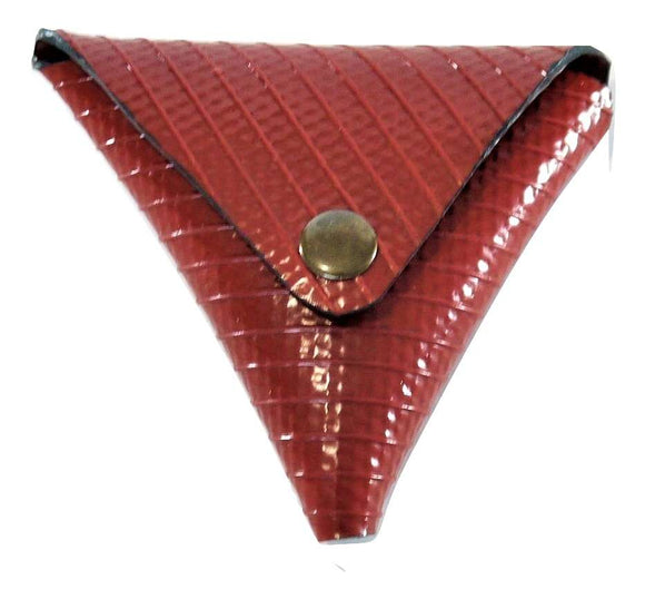 Recycled Fire Hose Triangle Coin Pouch
