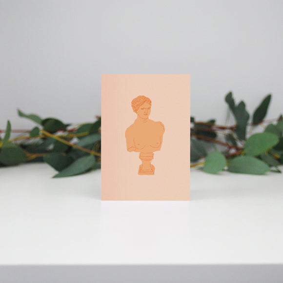 Peach Bust Mini Card
