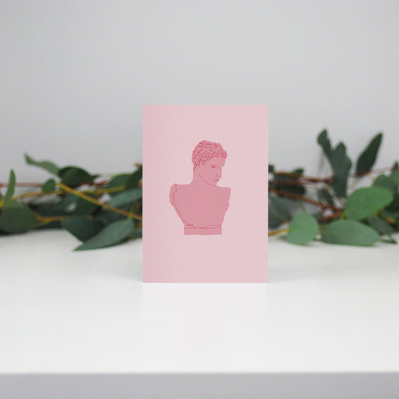 Pink Bust Mini Card