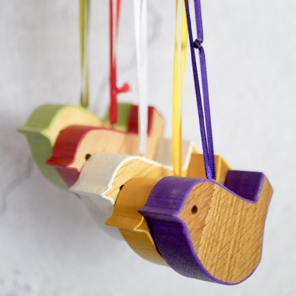 Wooden Bird Hanging Decoration
