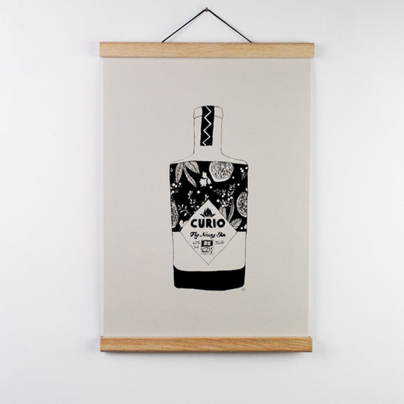 Curio Gin A3 Screen Print