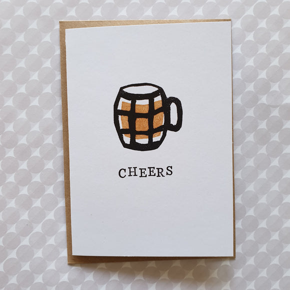 'Cheers' beer drinker card