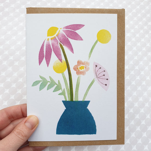 Vase of flowers - art card
