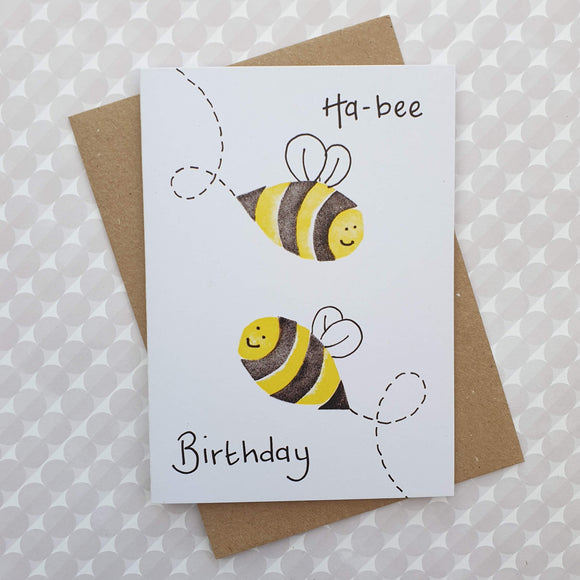 Bee birthday card -