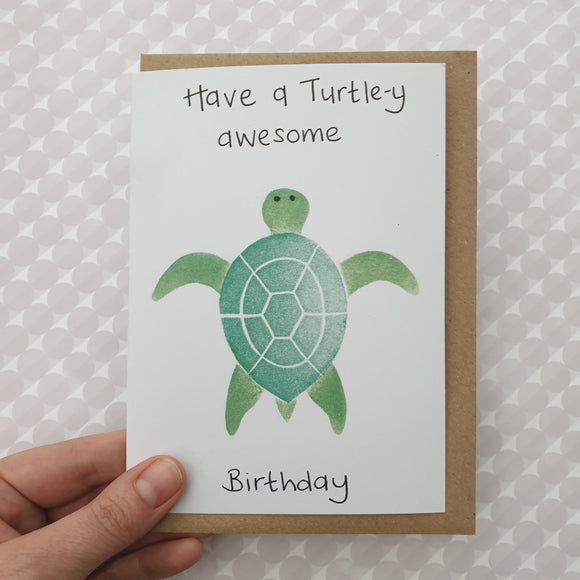 Turtley Awesone Birthday card