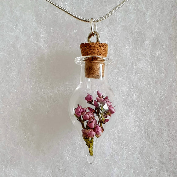 Peak District Heather Terrarium Necklace