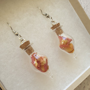 Rose Petal Terrarium Earrings