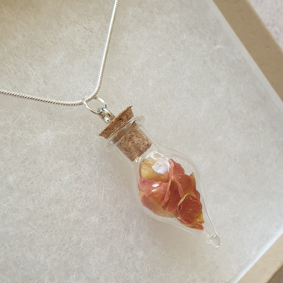 Rose Petal Terrarium Necklace