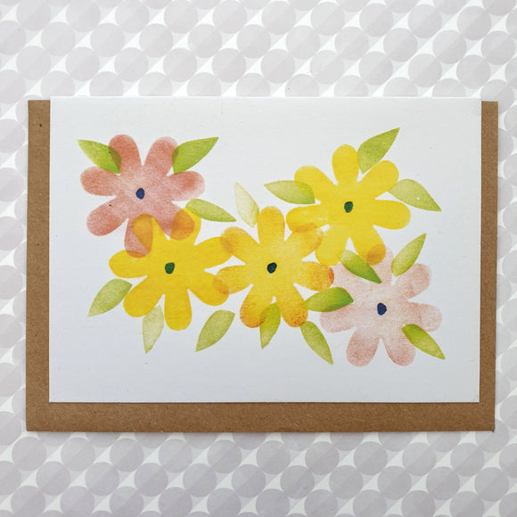 Art card - Summer flower bed