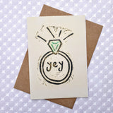 """Yey"" Engagement Ring Card"