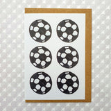 Footballs pattern card