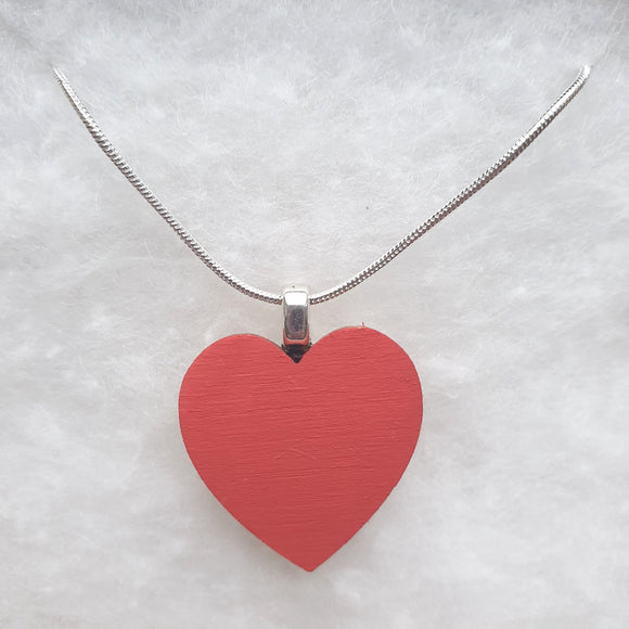 Classic Dusky Pink Heart Necklace