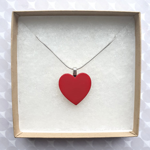 Classic Red Heart Necklace