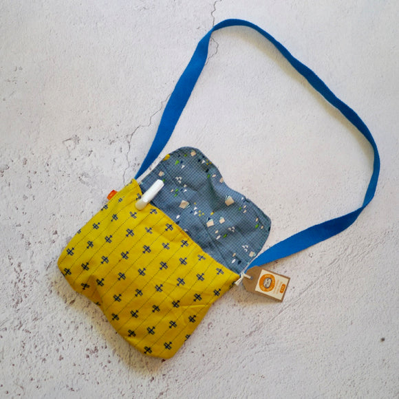 Mustard Planes Reversible Kids Shoulder Bag