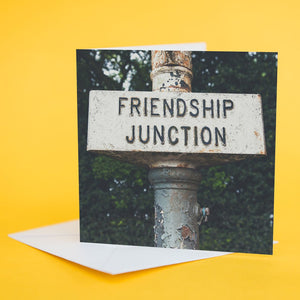 "Street Sign Card ""Friendship Junction"""