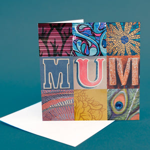 "Typography Card ""Mum"""