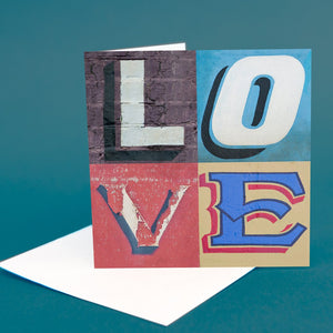 "Typography Card ""Love"""
