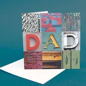 "Typography Greetings Card ""Dad"""