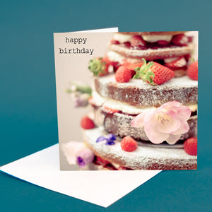 "Art Card ""Happy Birthday Cake"""