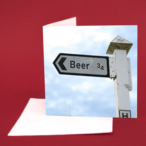 "Art Card ""Beer This Way"""