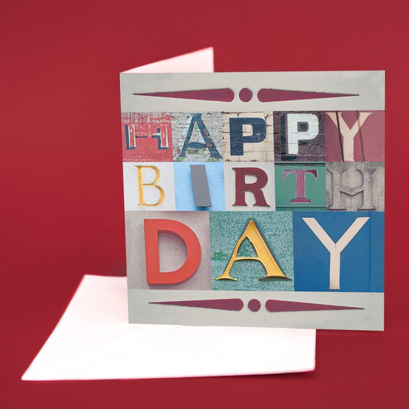 Typography Greetings Card
