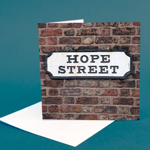 "Street Sign Card ""Hope Street"""