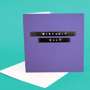 "Label Card ""Birthday Card Purple"""