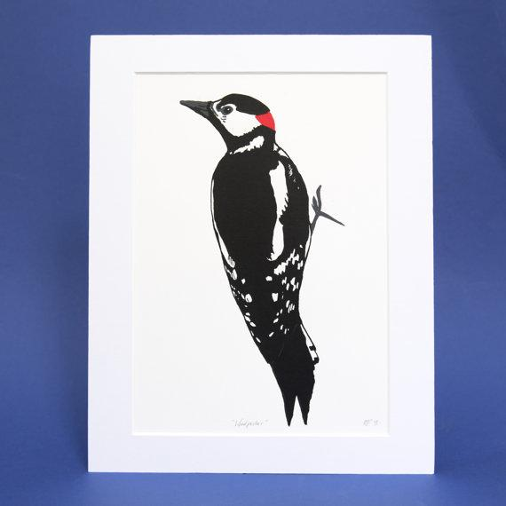 Woodpecker Screen Print