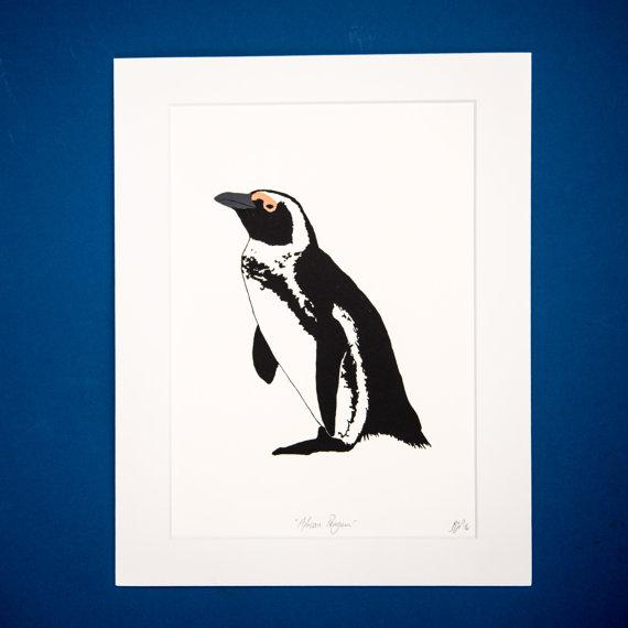 African Penguin Screen Print